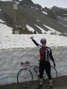Sheri at the Summit of Col de l'Izoard