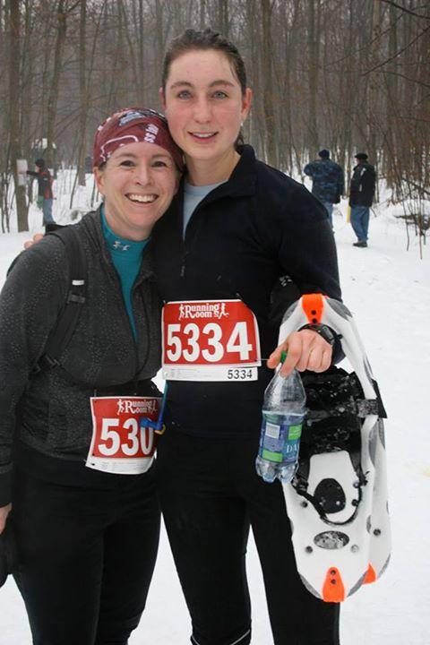 Amanda and Maude post-race
